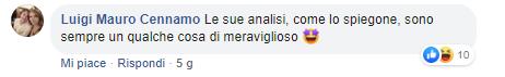 Commento su pagina Facebook fake di Marco Damilan0