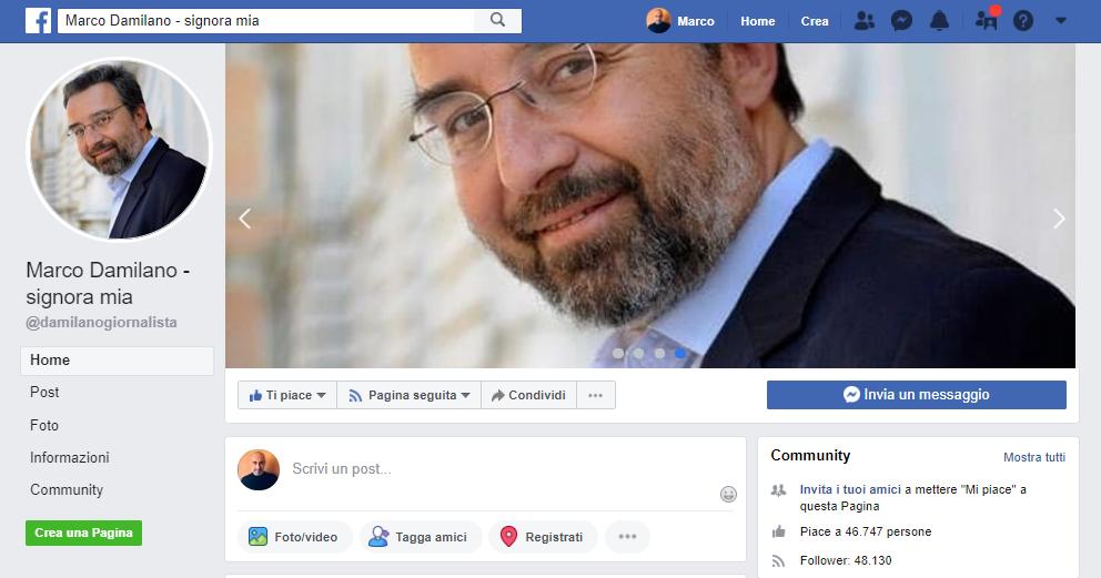 Marco Damilano su Facebook: genesi di una pagina fake da 70mila fan