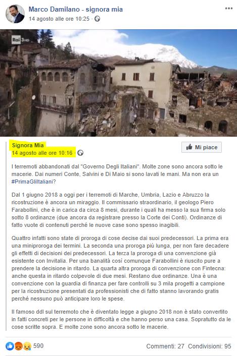 Fake post signora mia Marco Damilano