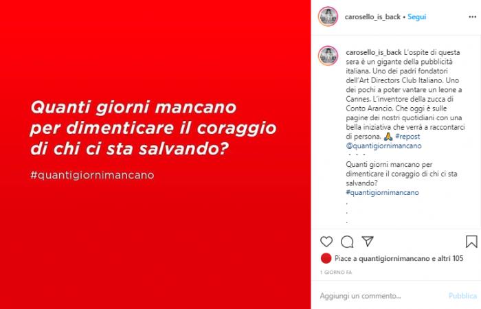 Post Carosello Is Back Instagram Live