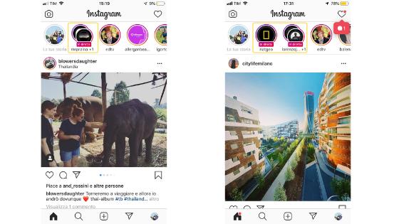 Instagram Live: visibilità sull'app Instagram