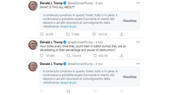 Trump profilo 4 novembre 2020