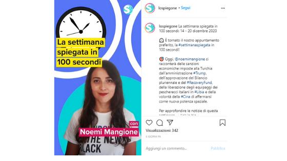 Fare giornalismo su Instagram - Lo Spiegone IG TV
