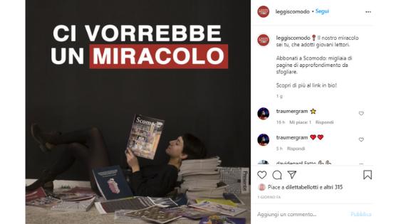 Fare giornalismo su Instagram - il progetto di Scomodo